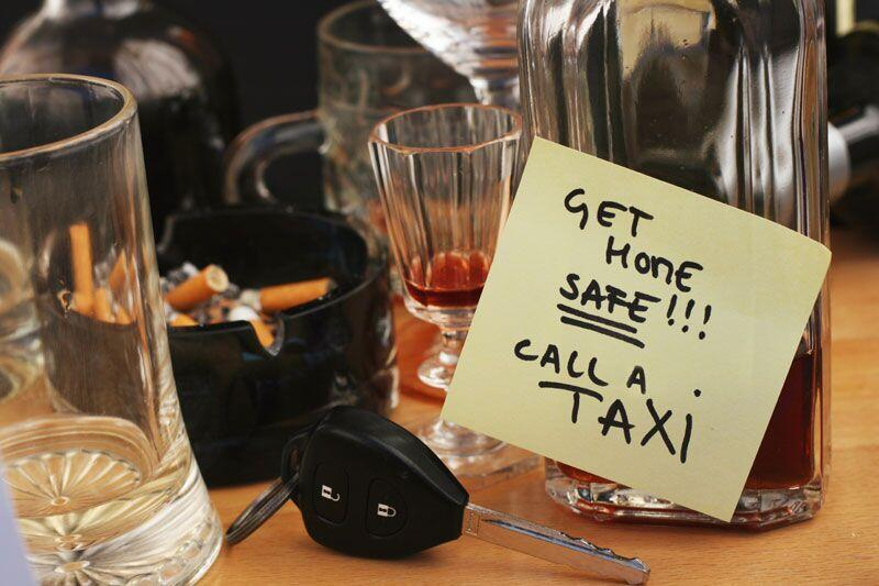 alcohol, car keys, and safe driving note, DUI and your driving record